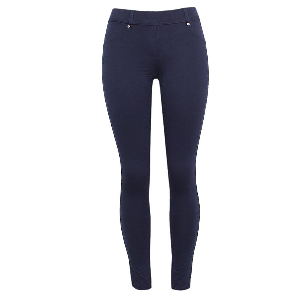 Zee Navy Blue Cotton Ladies Jeggings-M