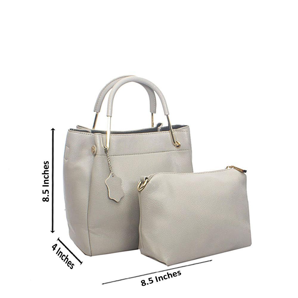 Gray Floxy Tandy Leather Handbag