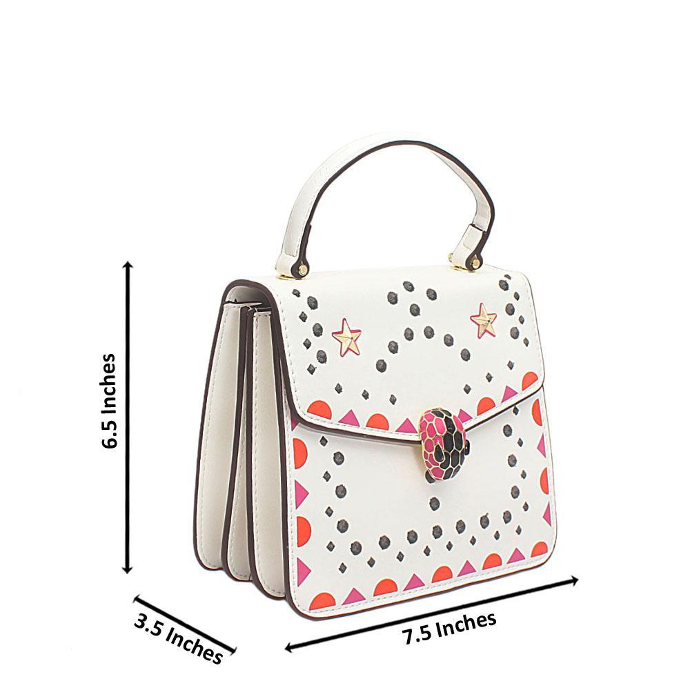 White Starlight Cow Leather Handbag