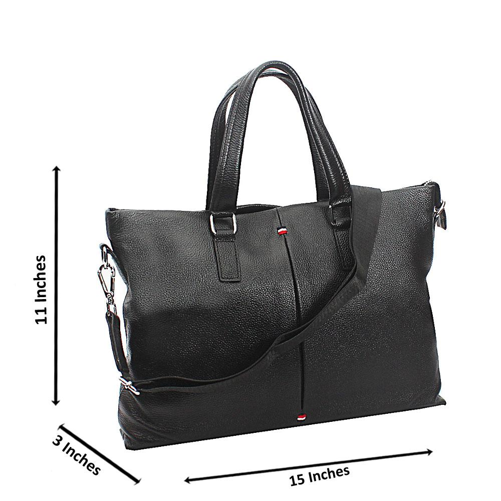 Black Rory Tuscany Leather Business Man Bag