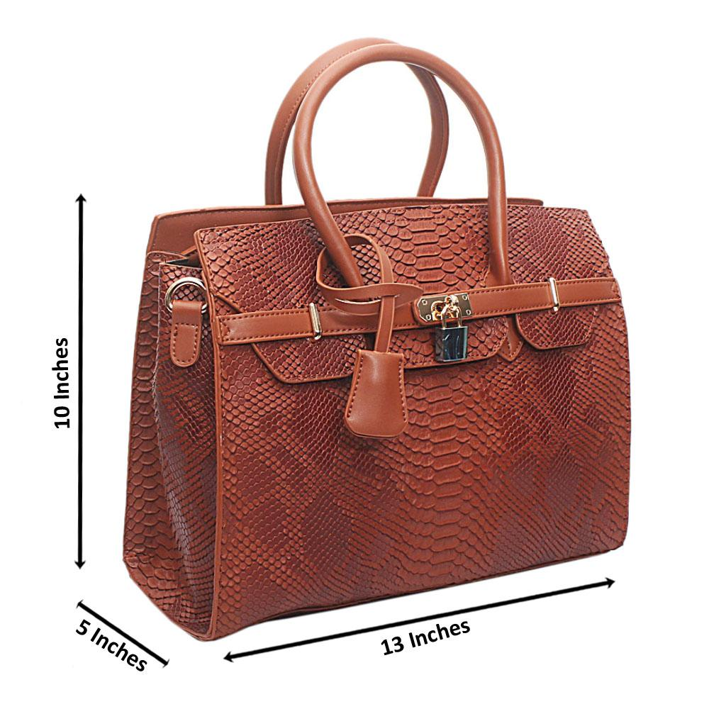 Brown Leather Matte Crocodile Birkin bag