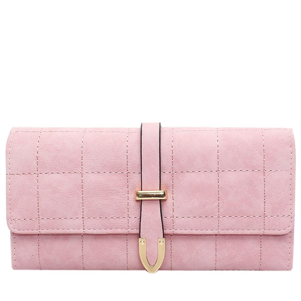 Nubuck Pink Leather Ladies Wallet