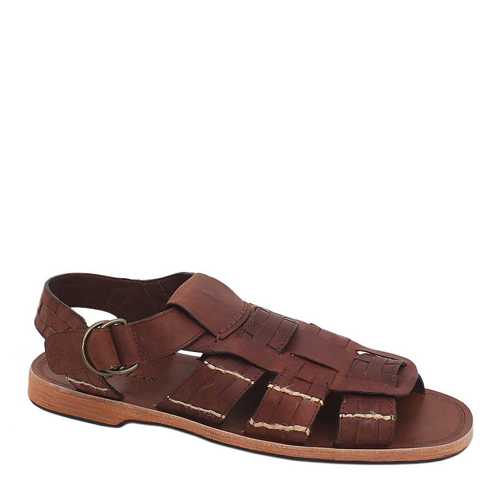 Cole Haan Brown Leather Men Sandals