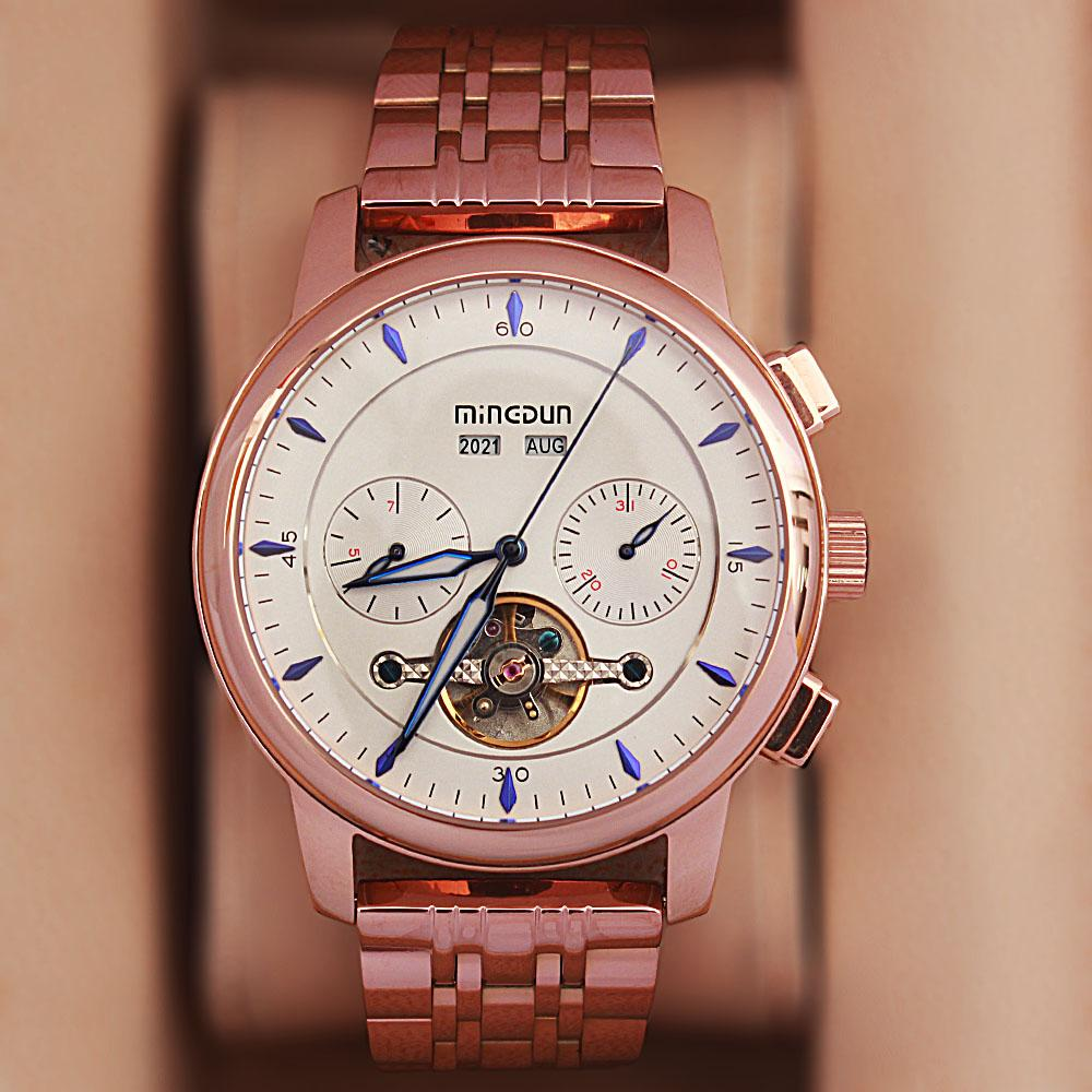 Shanghai Karl Ice Rose Gold Stainless Steel Automatic Watch
