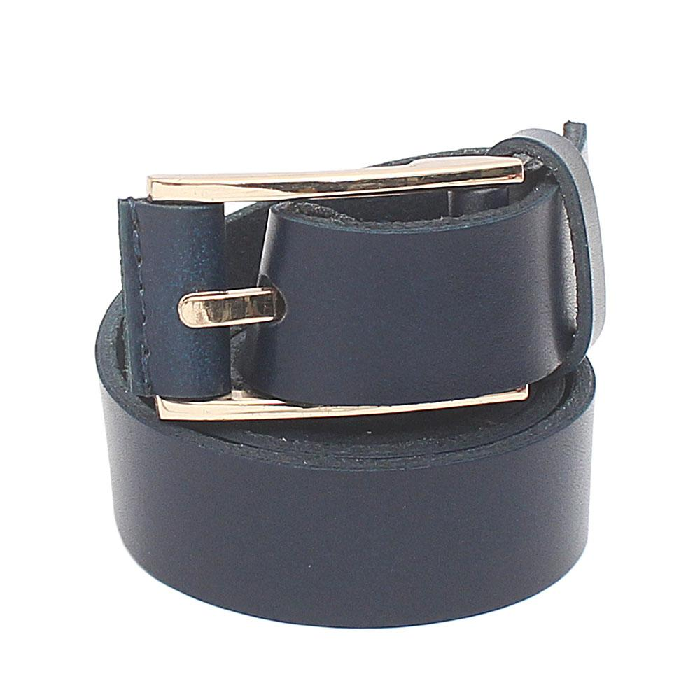 Navy Blue Premium Leather Ladies Belt L 41 Inches