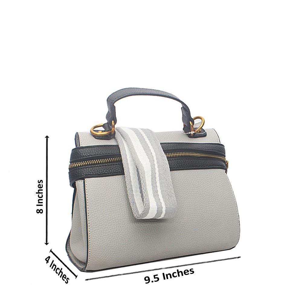 Gray Black Safari Tandy Leather Mini Single Handle Bag