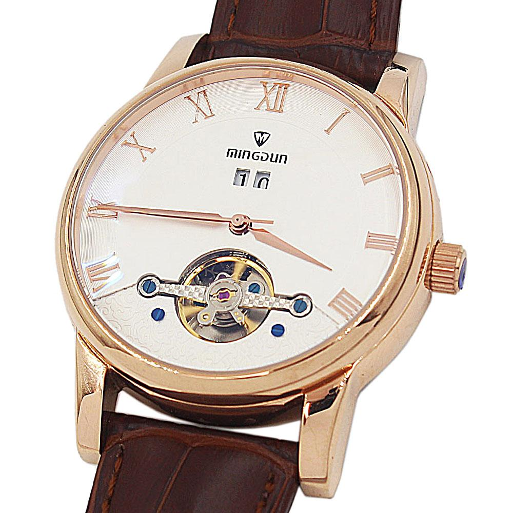Shanghai Classic Man Brown Premium Croc Leather Automatic Watch