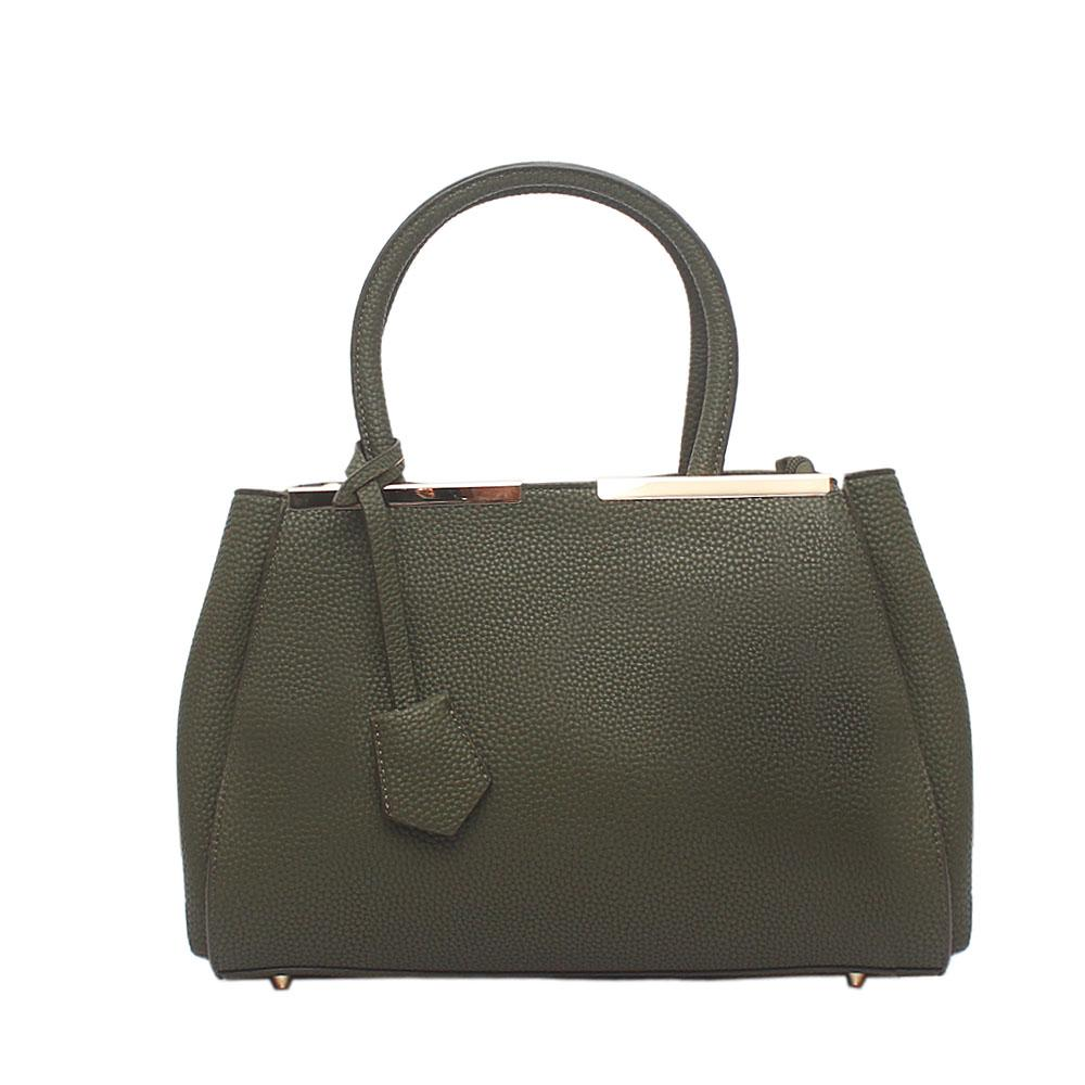 Desert Safari Green Leather Handbag