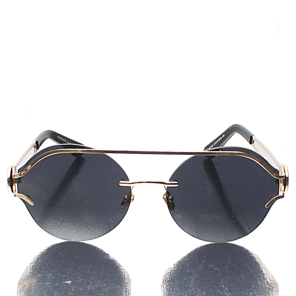 Gold Round Highstreet Dark Lens Sunglasses