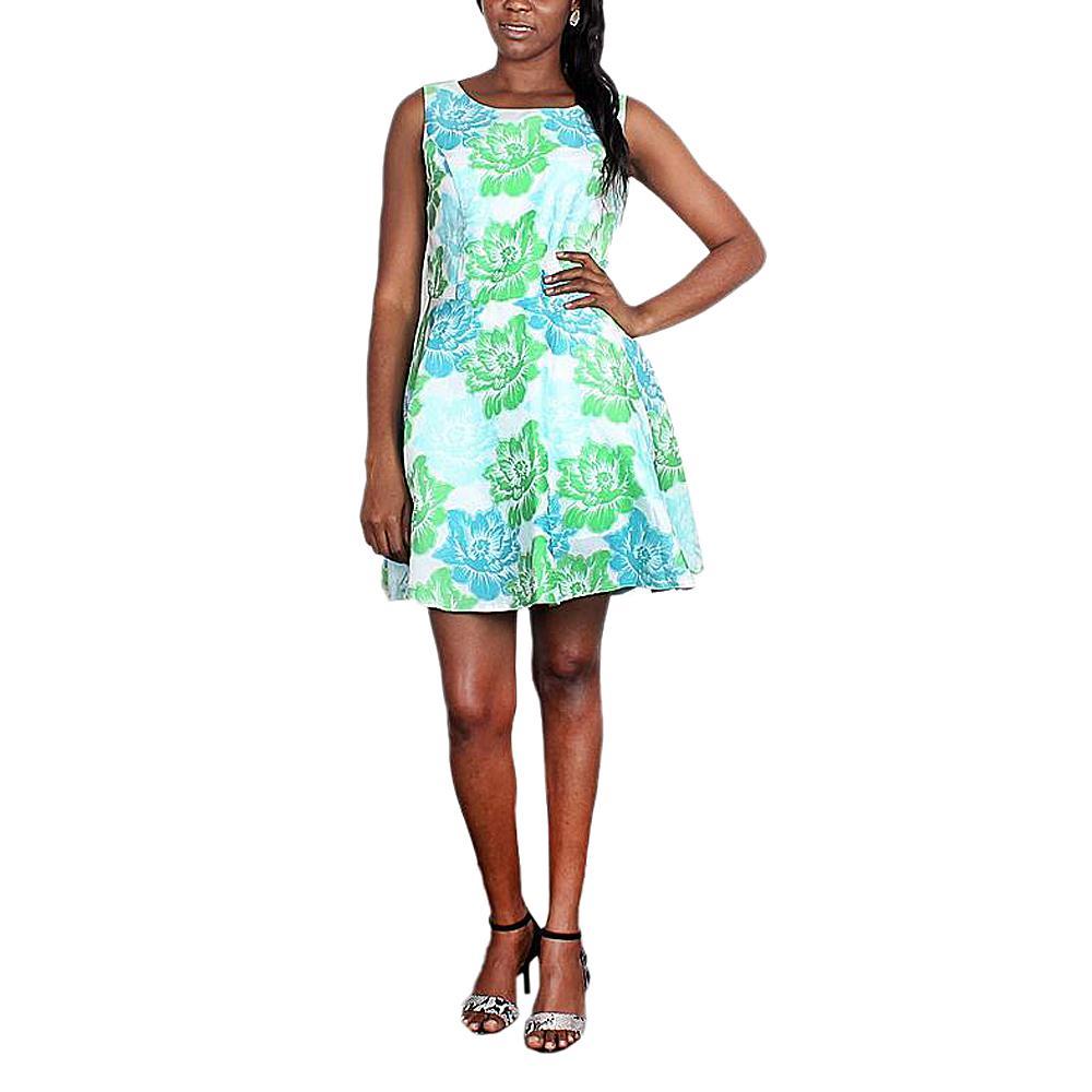 AYLIZ Blue/Green Flower Design Cotton  Wt -UK 12/L 34