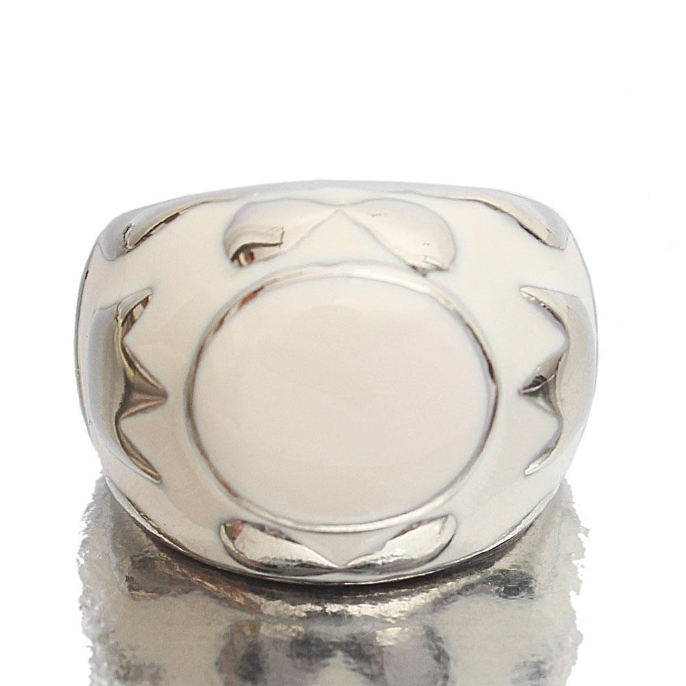 Silver White Stainless Steel Classic Ladies Ring