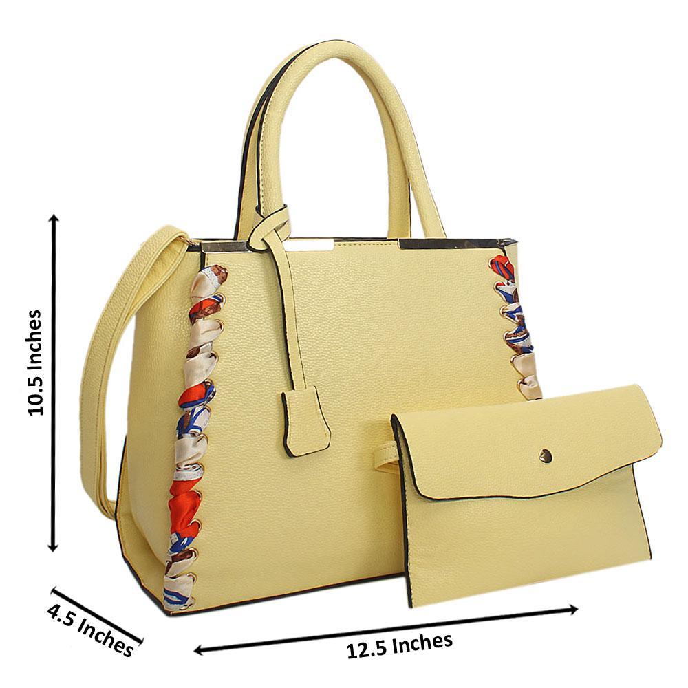 Creamy Tuscany Leather Tote Handbag