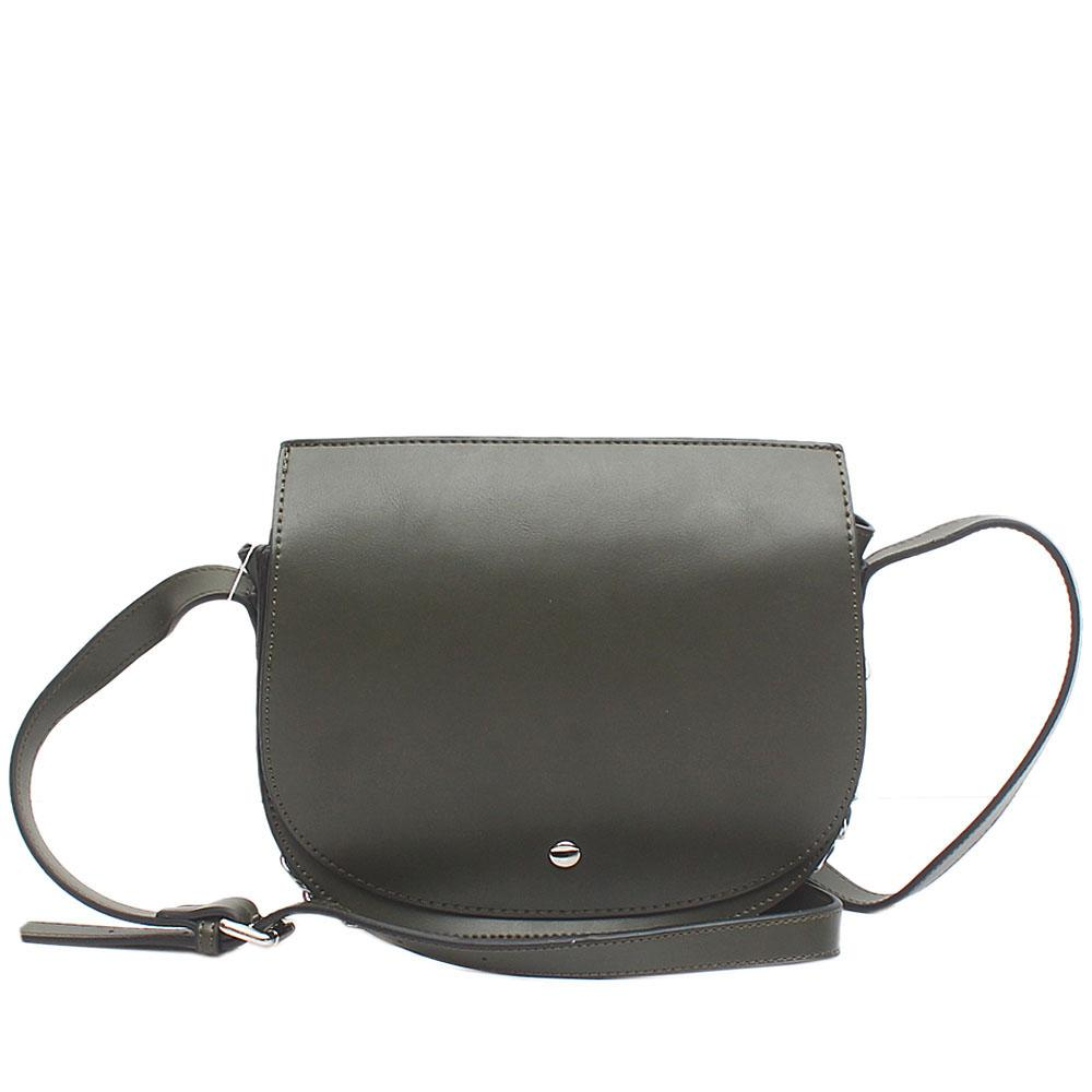 London Style Green Leather Cross Body Bag
