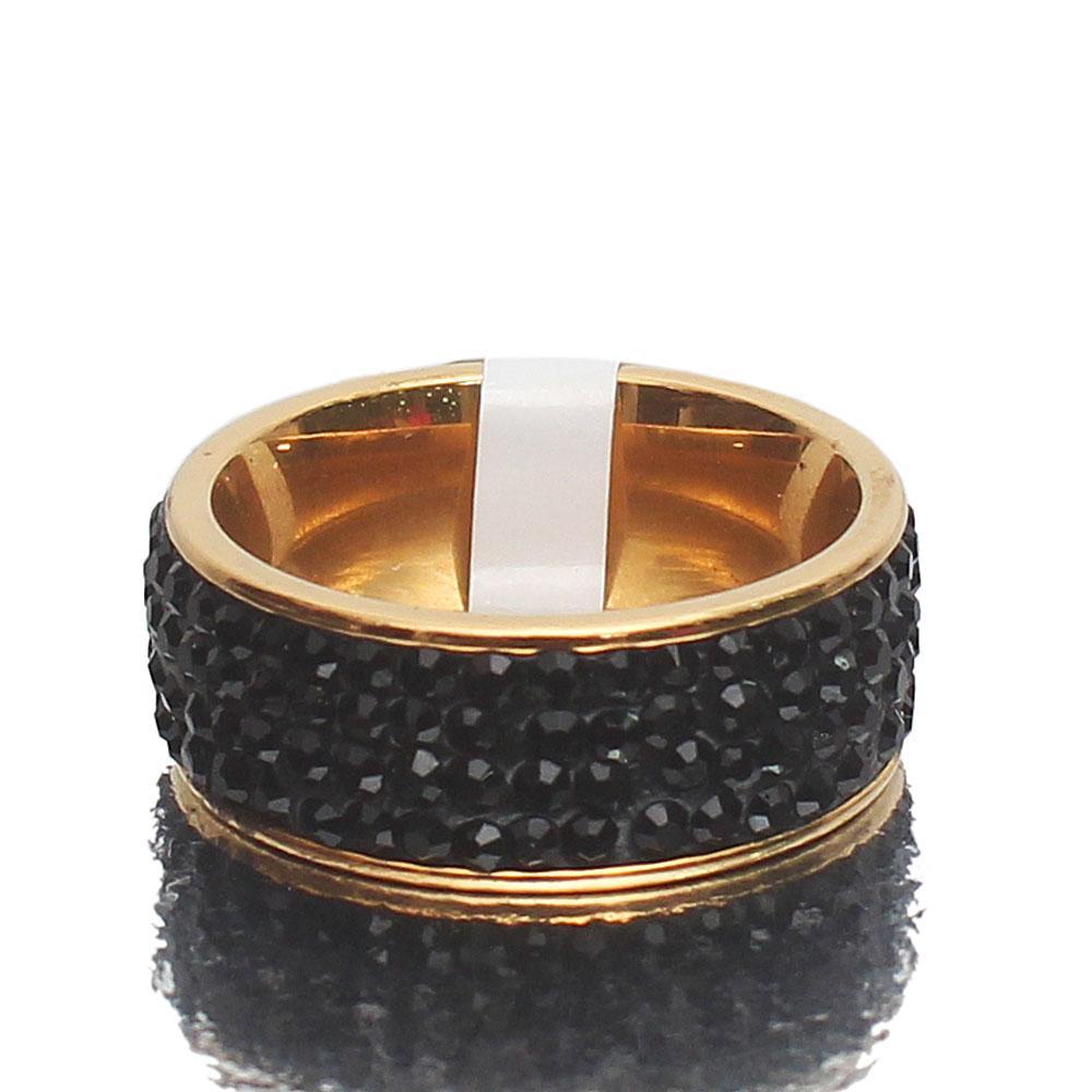 Tudor Black Studded Ring