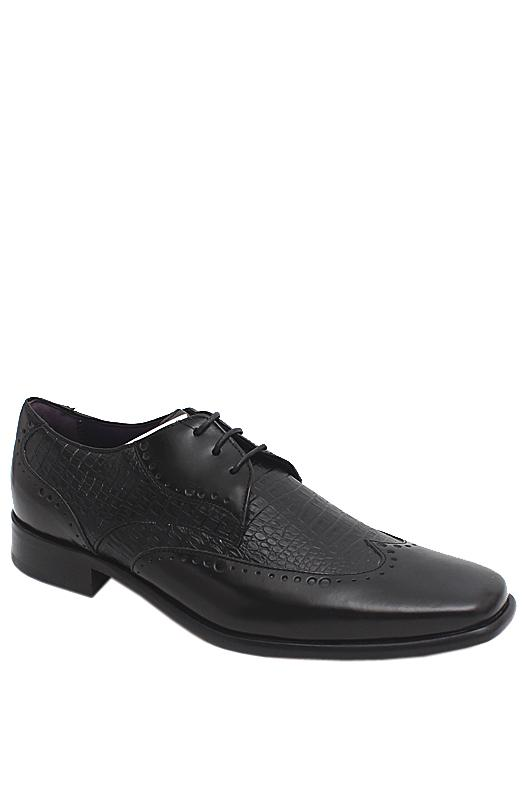 M & S Autograph Black Leather Men Brogue
