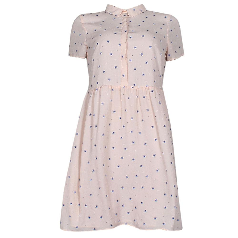 Limited Edition Pink wt Blue Spot Ladies Dress-UK 12
