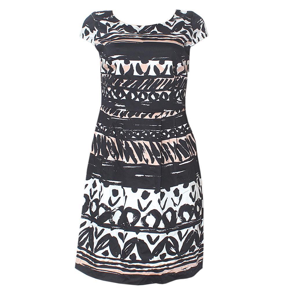 Per Una Black White Brown S/Sleeve Dress