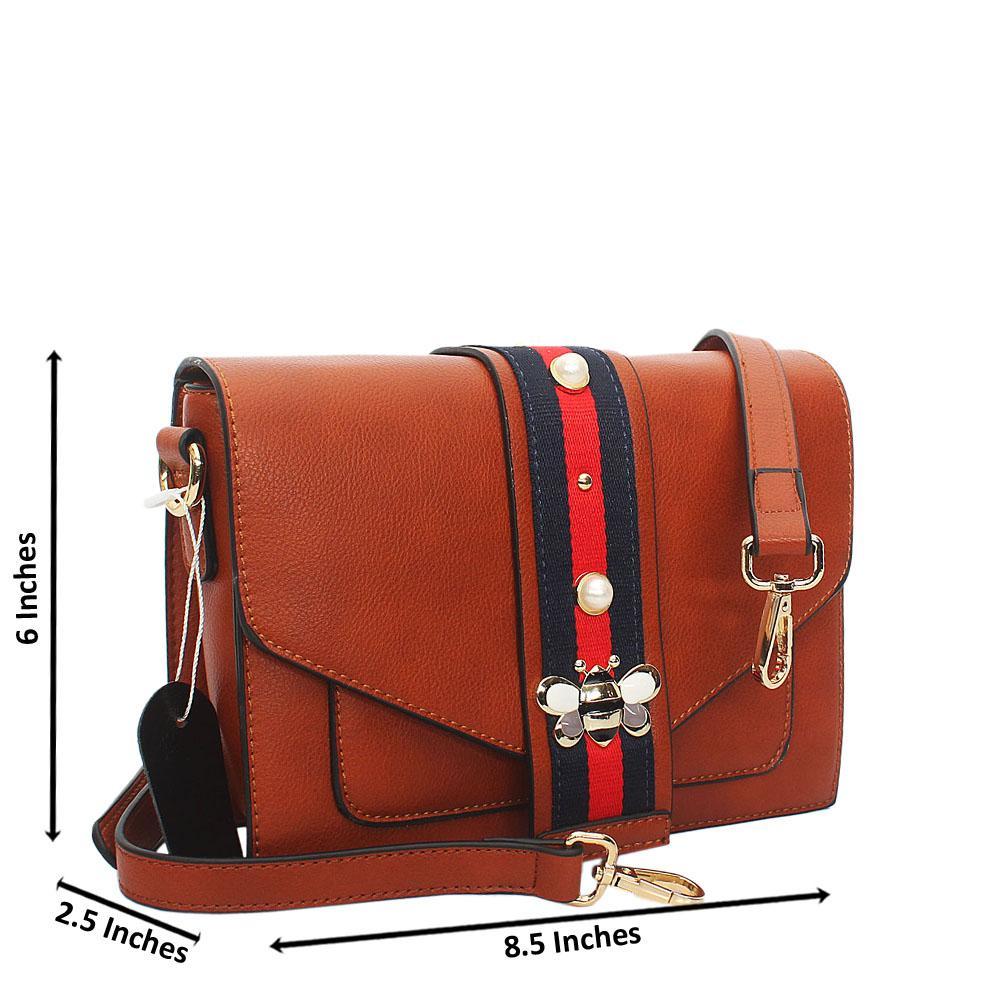 Brown Scarlett Leather Crossbody Handbag