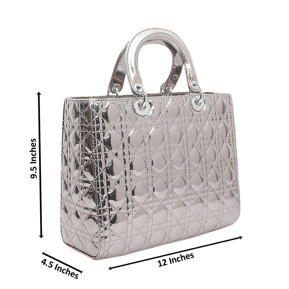 Silver Structured Bag