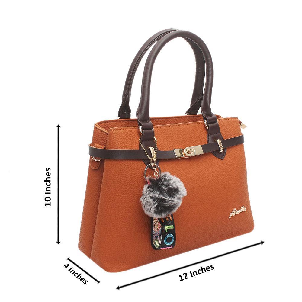 Brown Leather Tote Handbag