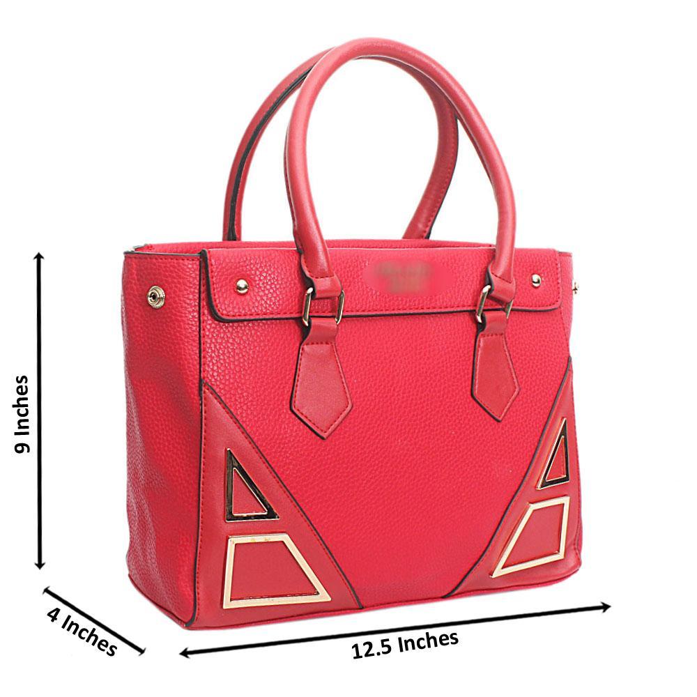 Red Leather Medium Milano Handbag