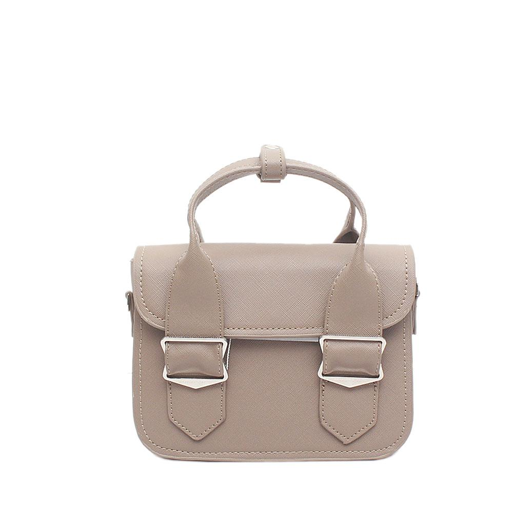 London Style Khaki Brown Leather Mini Handbag
