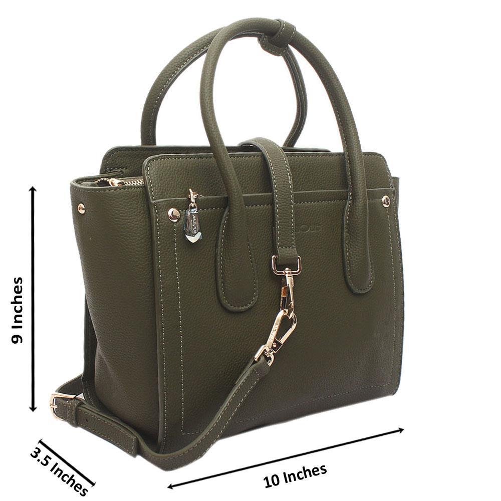 Green Utopia Medium Leather Handbag