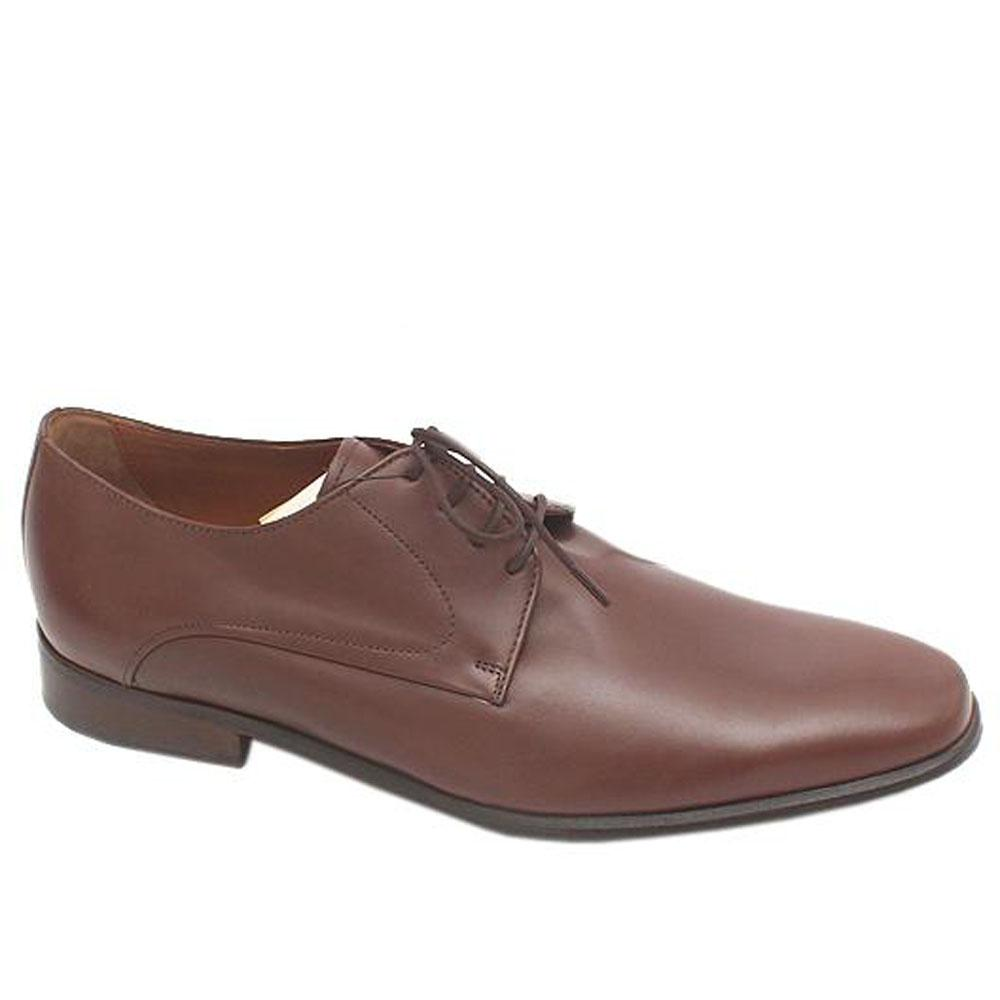 Collezione Coffee Lace-Up Leather Men Shoe-Sz 43.5