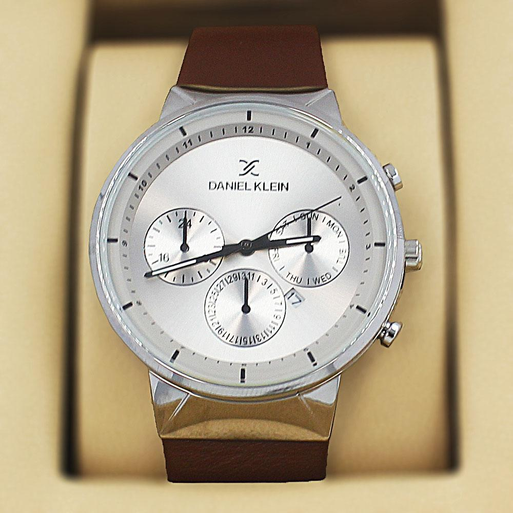 Daniel Klein Jose  Brown Leather Curve Series Watch
