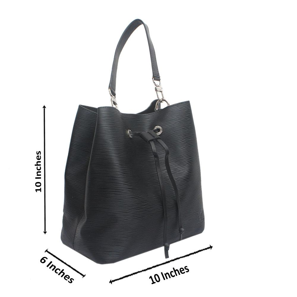 Black Vintage Epi Saffiano LeatherHandbag