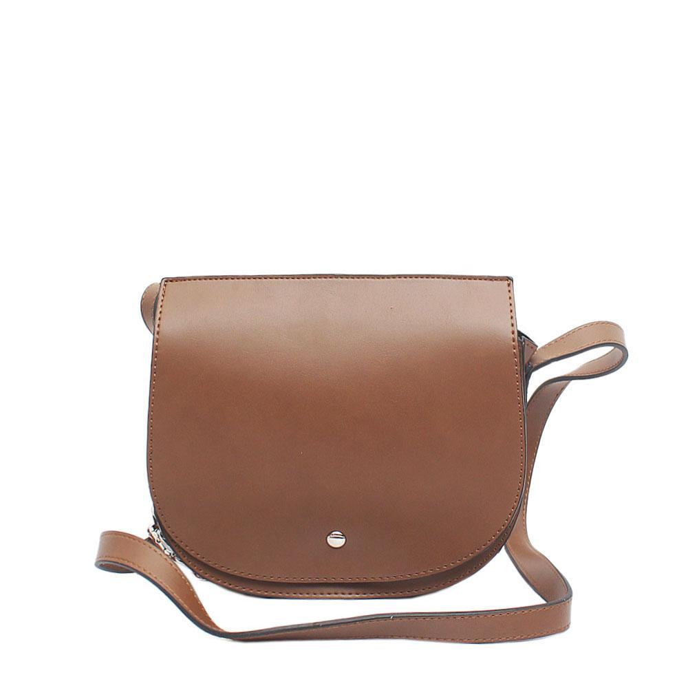 Bae Brown Leather Cross Body Bag