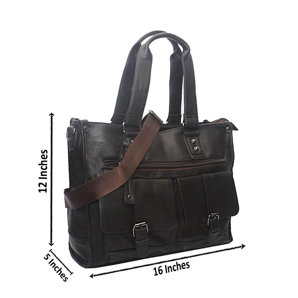 Casania Cofee Double Pocket Overnight Travel Bag