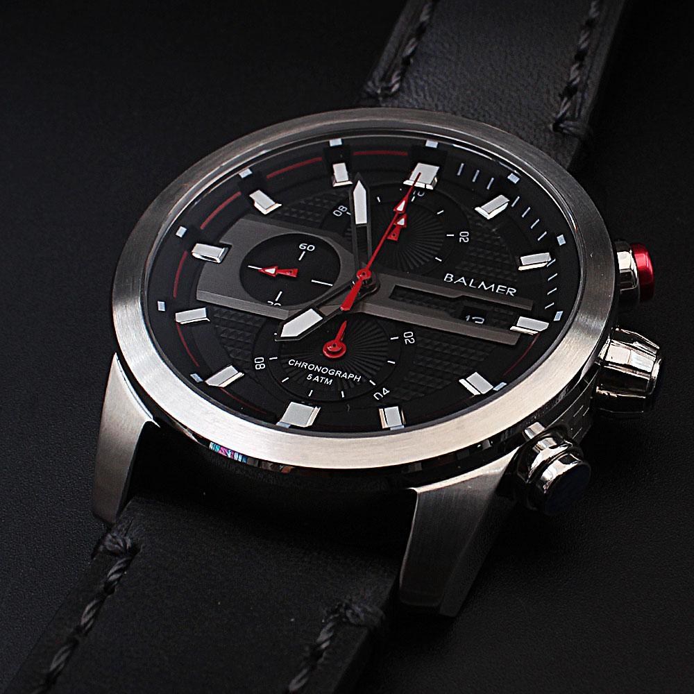 Big Bang Black Leather Navigators Chronograph Watch