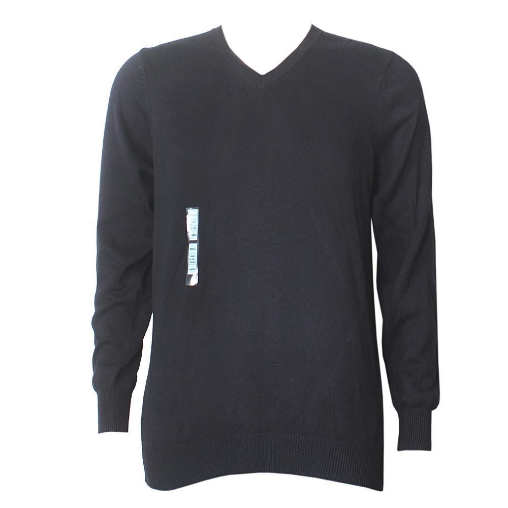 Blue Harbour Black L/Sleeve V-Neck Men's Sweater