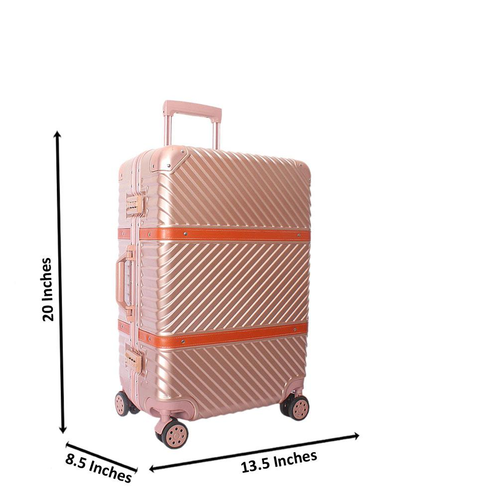 Baby Pink 20 Inch Hardshell 4 Wheels Spinners Carry On Luggage
