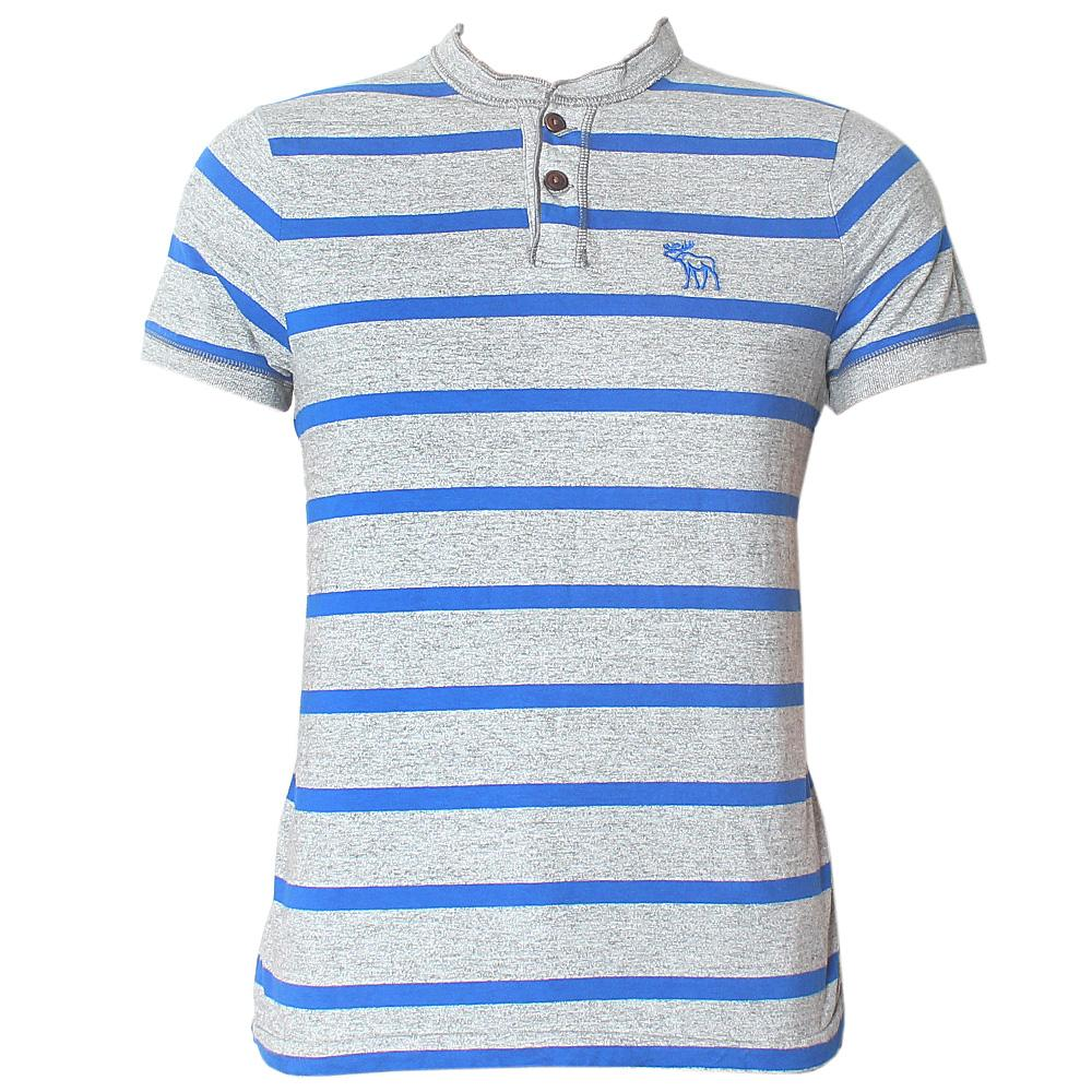 Abercrombie Grey Blue Men's Polo-M