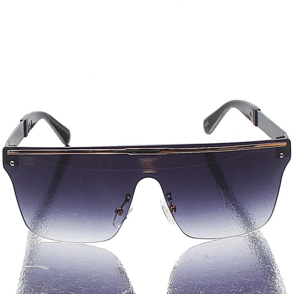 Black Shield Dark Lens Sunglasses
