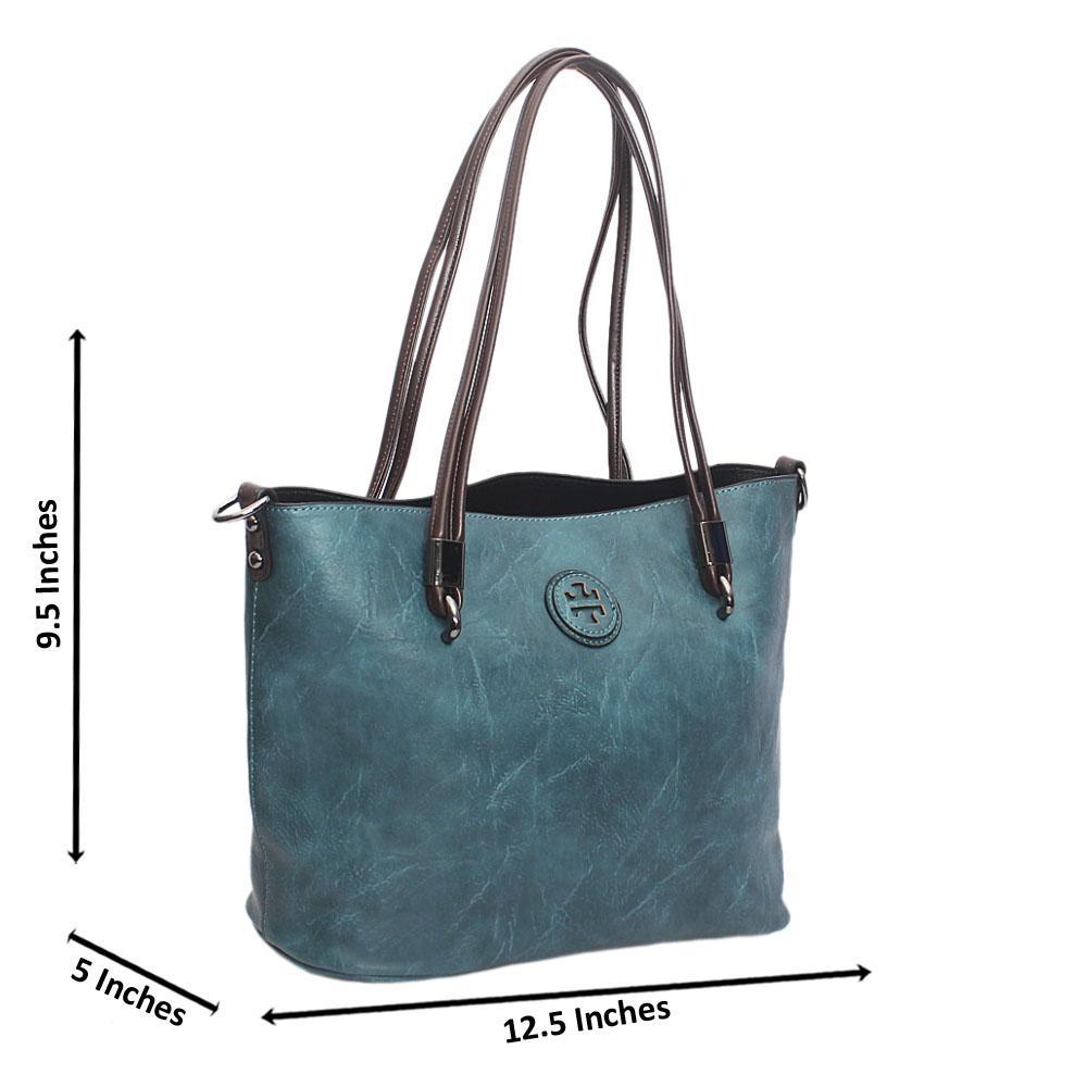 Blue Lenine Tandy Leather Shoulder Bag