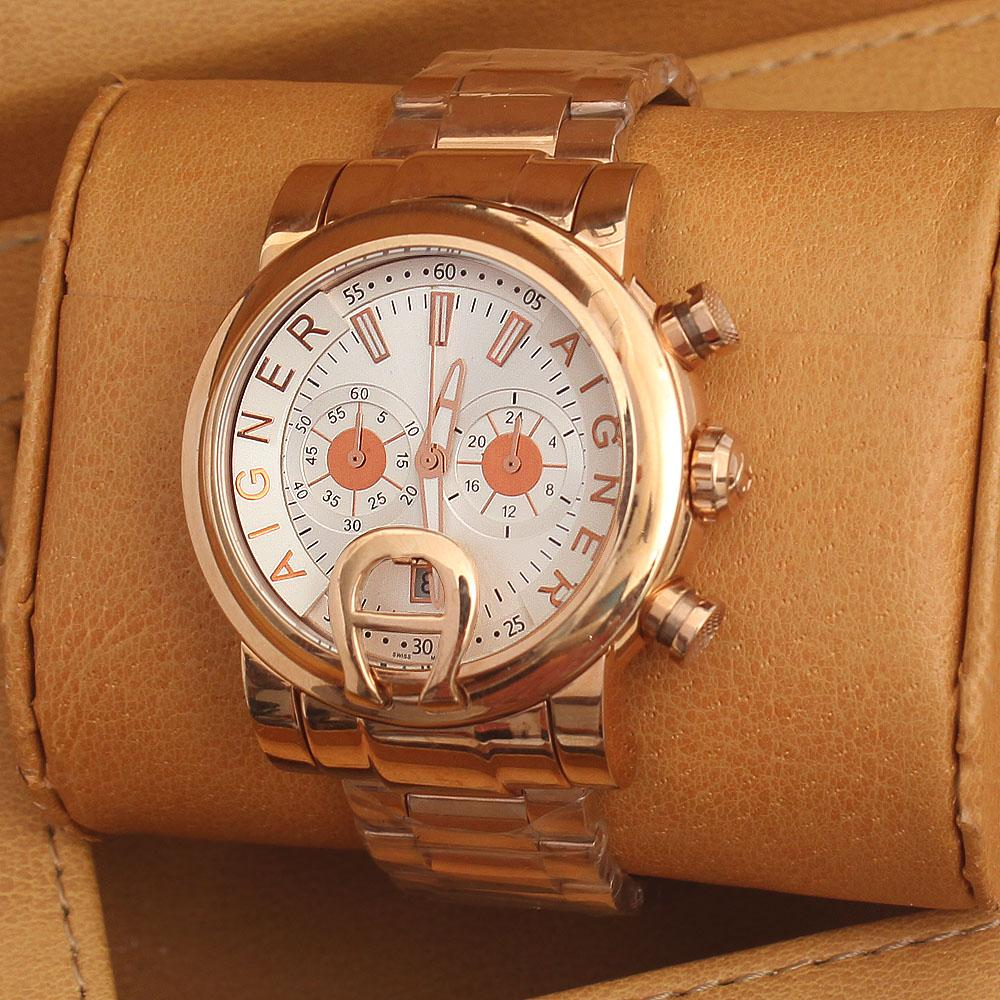 Buy Aigner Bari Rose Gold Men Chrnograph Watch The Bag Shop Nigeria For Women