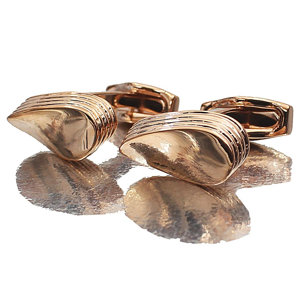 Rose Gold Stainless Steel Cufflinks