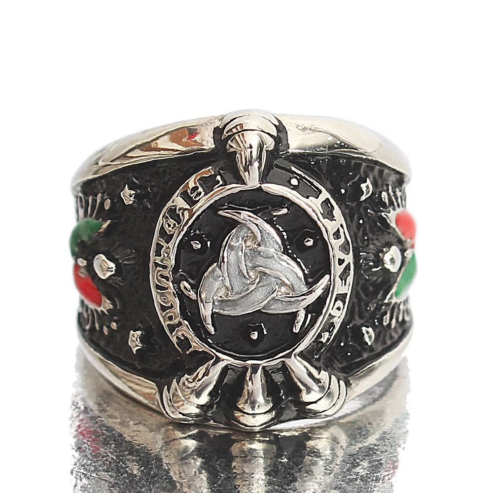 Silver Stainless Steel Classic Eagle Ring