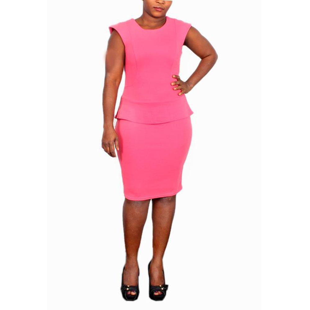 Zee Peach Sleeveless Cotton Ladies Dress