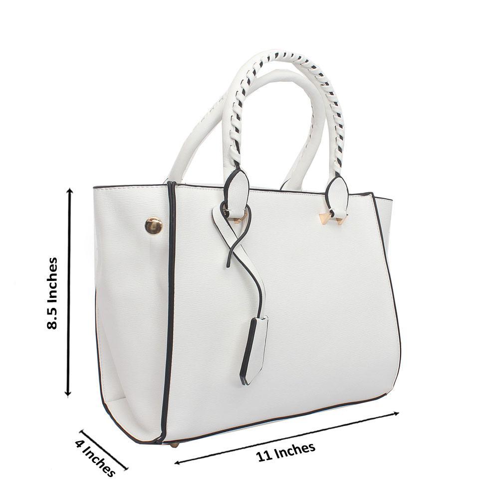 White Leather Swift Barbie Handbag