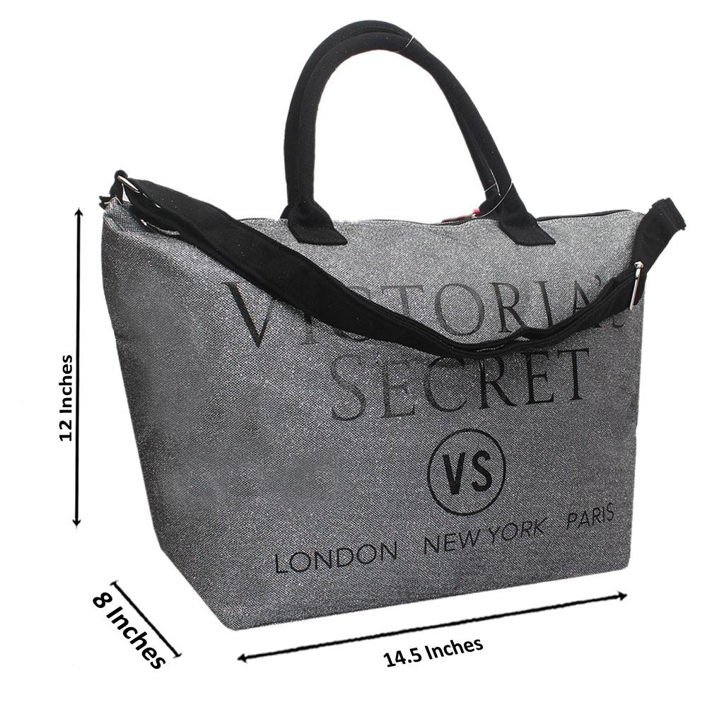 VS Silver Shimmering Leather Duffle Bag