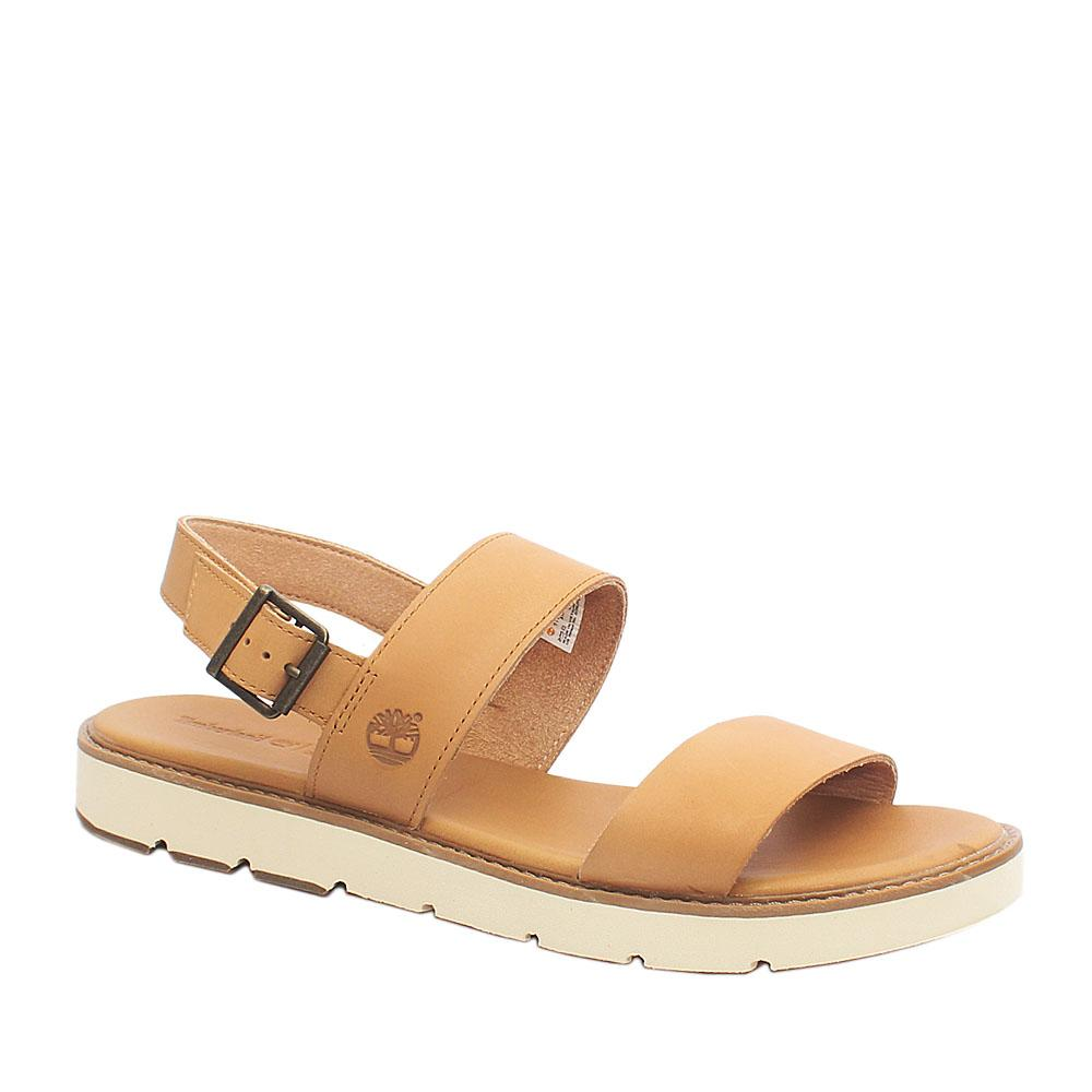 Timberland Sensor Flex Camel Brown Leather Ladies Sandals