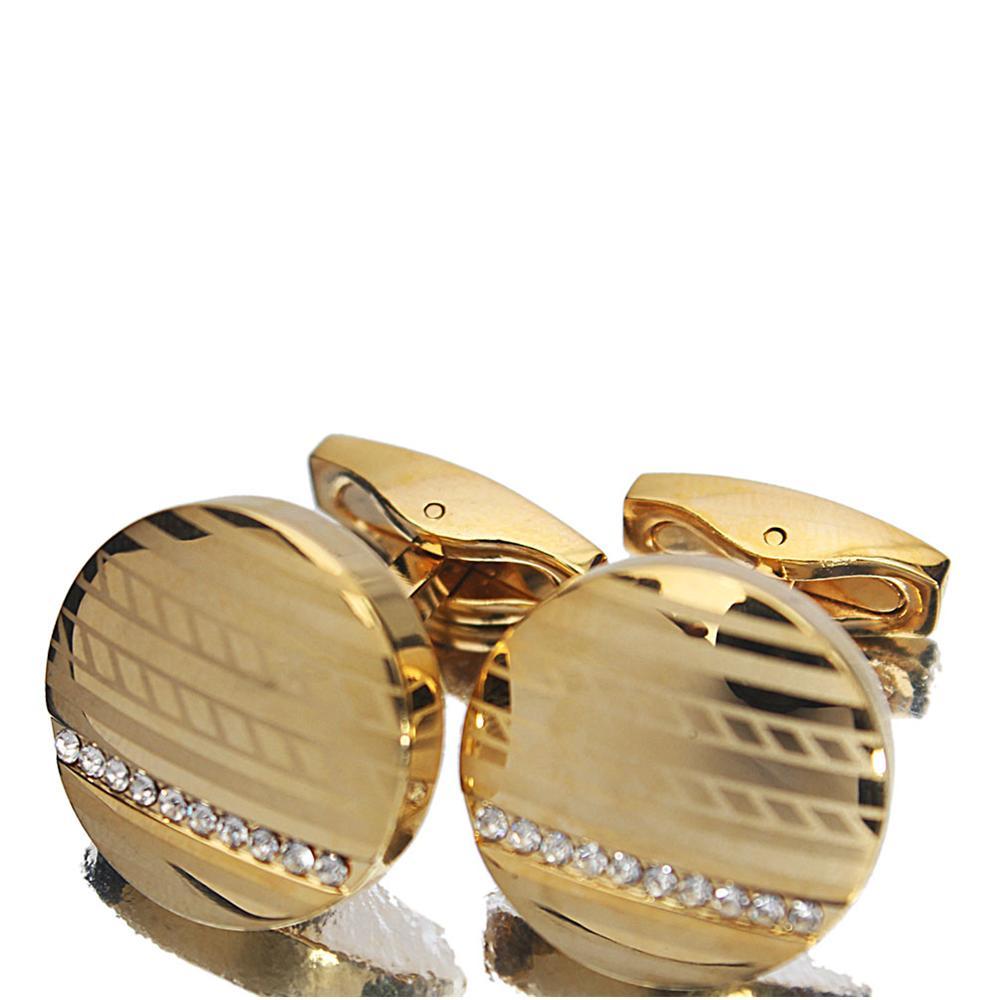 Gold Studded Stainless Steel Cufflinks