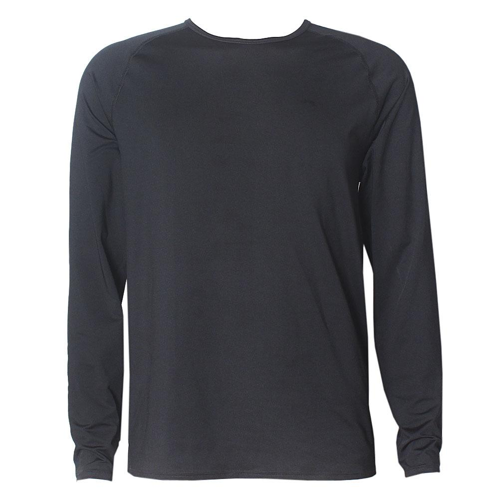 M & S Black Ultra Fit Active L/Sleeve Men T-Shirt