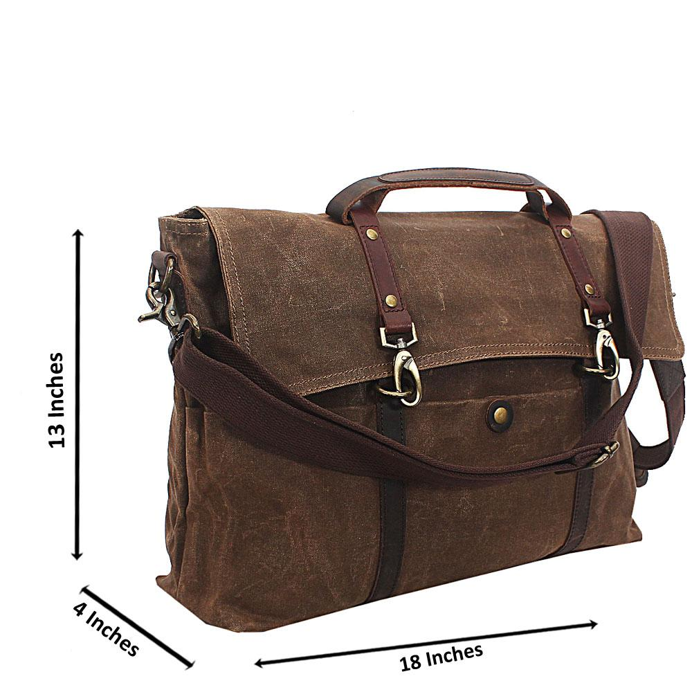 Brown Tripple Pocket Water Proof Khaki Messenger Bag