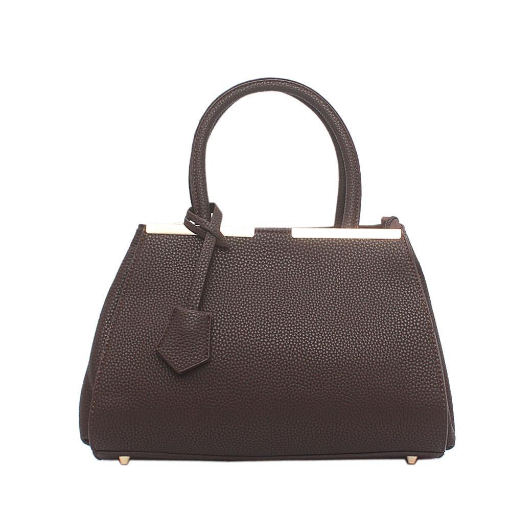 London  Style Emerald Coffee Leather Handbag