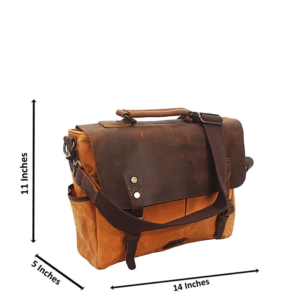Camel Brown Water Proof Khaki Messenger Bag